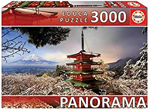 Educa Borras Puzzle Monte Fuji y Pagoda Chureito, Japón Panorama 3000 Piezas (18013)