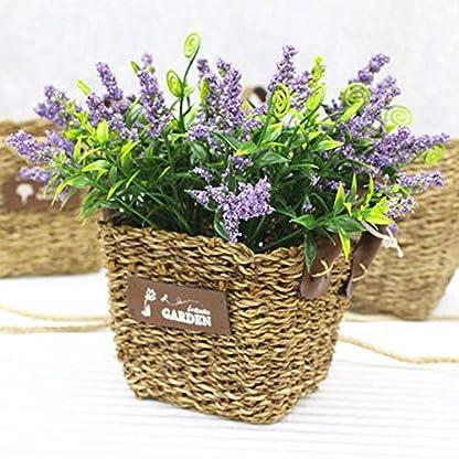 LiyuAI Maceteros, Macetas de flores, cestas de flores tejidas a mano pura, decoradas 14 x 14 x 14cm