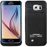Vanda® Funda Carcasa Con Batería Cargador-batería Externa Recargable 4200mAh Para Samsung Galaxy S6 9200, Negro