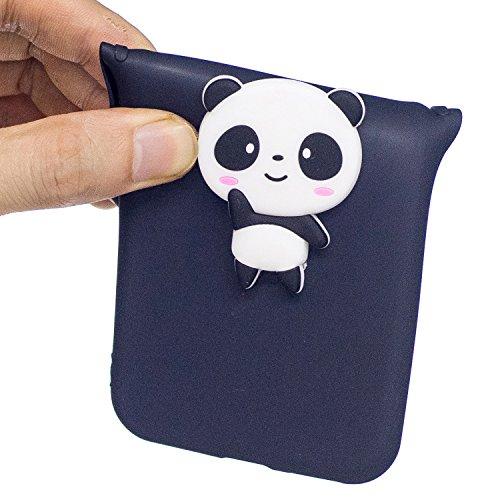 Coque pour iPhone 5S ,Etui iPhone SE , Transparente TPU Case Silicone Slim Souple Étui de Protection Flexible Soft Cover avec Charmant Fruit Motif Coloré Anti Choc Ultra Mince Integrale Couverture Bum Panda Noir