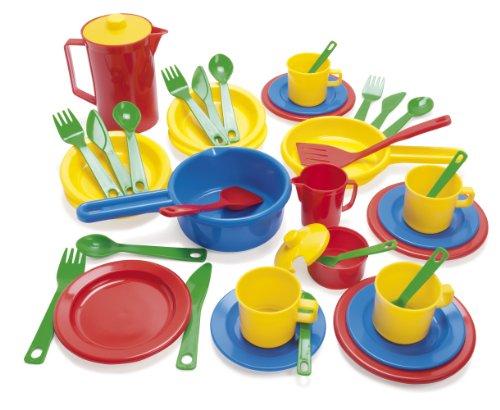 Dantoy 4223 - Set de vajilla y utensilios de cocina de plástico (42...