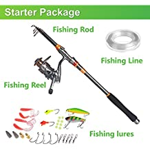 Plusinno® Spin Filatura Rod and Reel Combo