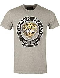 Ed Hardy - T-shirt - Manches Courtes - Homme gris Drawn Roar | Grey