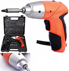 Flipco ® Cordless Rechargeable Handy Drill Screwdriver 45pcs Set with bits Holder