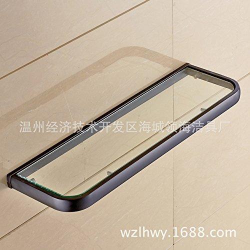 Single-Layer Glas Tisch Badezimmer Regal dunkel Bronze Glas Regal ()