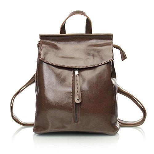 Kuh Split Leder Frauen Rucksack Vintage Rucksack für Mädchen im Teenageralter lässig Taschen Umhängetaschen (Vintage Coach Taschen)