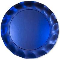 Piatto Maxi Blu Satinato 5Pz diam.32,4cm