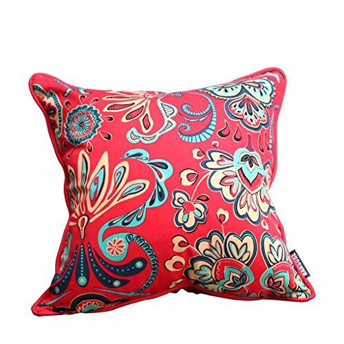 Uus Klassisches chinesisches rotes Sofa-Kissen für Hochzeits-Raum-Mahagoni-Sofa-große Kissen-rote Reine Farbe mit unten füllen (größe : 50 * 50)