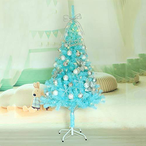 Huichanghuayi Árbol Navidad Azul 60 cm Bolas luz