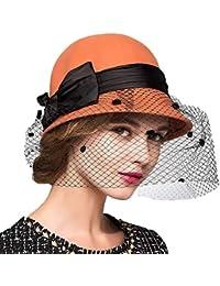 Cappelli del Partito Cloche Velo Signore Arco Bombetta Vintage Semplice  Glamorous Moda Stile Moderno Cappelli Eleganti e67e0309f327