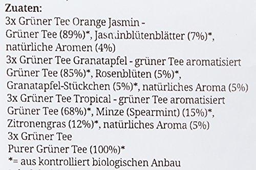 """English Tea Shop – Teegeschenk mit Schleife""""Grüner Tee Kollektion"""", BIO, 12 Pyramiden-Beutel"""