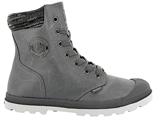 Palladium - Pampa Knit LP F - French Metal / Moonbeam (Grau) - Boots (39) (Knit Boot)