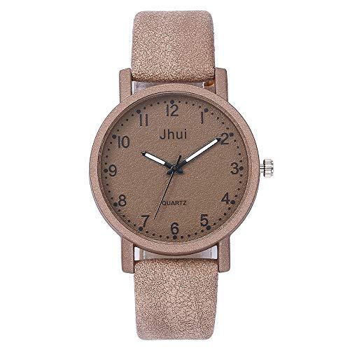 Hzing Damen Casual Armbanduhr Damenuhr, Classic Quarzuhr mit lederarmband Fashion Analog Quarz für Frauen