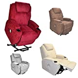 Burlington dual motor electric Riser and Recliner mobility rise lift chair - choice of colours (Grey Fabric)