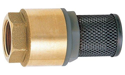 Abmessung 1 Zoll Sanifri 470010090 Messing Fu/ßventil mit Feder Saugkorb aus feinmaschigem Edelstahlgeflecht Ventilkegel aus Kunststoff mit Gummidichtung