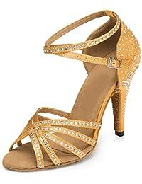 Miyoopark - zapatillas de danza Mujer , color Marrón, talla 35