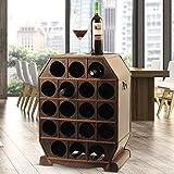 Botellero de Madera rústico para Botellas de Vino, Color marrón