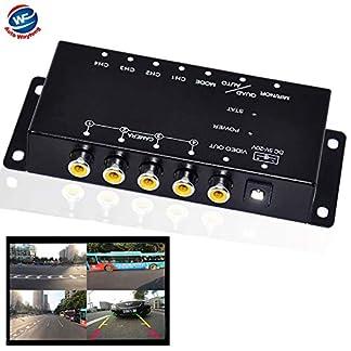 Auto-Wayfeng-WF-IR-Steuerung-4-Kameras-Video-Steuerung-Auto-Kameras-Bild-Schalter-Combiner-Box-fr-die-Linke-Ansicht-Rechte-Ansicht-Vorne-Hinten-Parkplatz-Kamera-Box