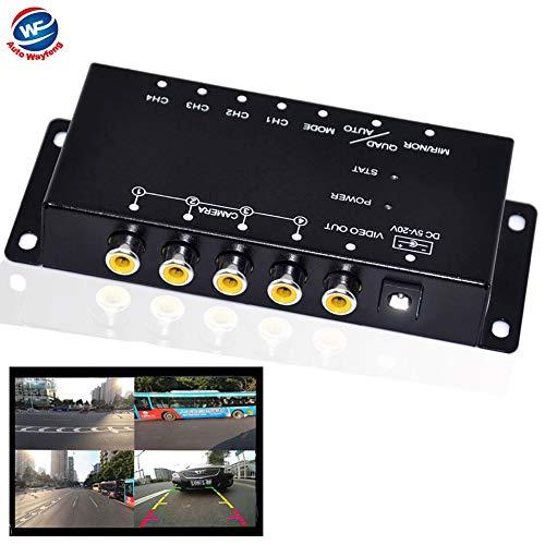 Auto Wayfeng WF® IR-Steuerung 4 Kameras Video-Steuerung Auto-Kameras Bild-Schalter Combiner-Box für die Linke Ansicht Rechte Ansicht Vorne Hinten Parkplatz Kamera-Box Ir-video