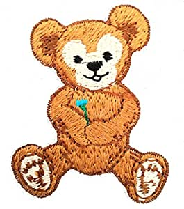 Iron on patches - Teddy bear children - brown - 4x5cm - Application Embroided patch badges by Catch-the-Patch.de