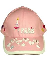 Souvenirs de France-Gorra talla regulable para niño, diseño de París, color rosa