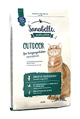 Sanabelle Outdoor Gluten-free, High Protein Complete Dry Food for Free-roaming Adult Cats With Natural Antioxidants and Increased Energy Content 10 kg from Sanabelle