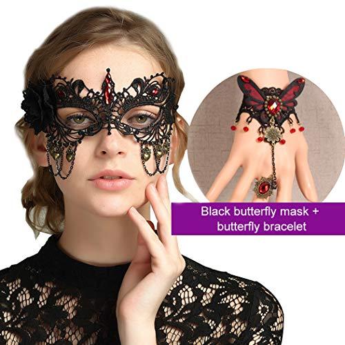 Maske Damen, Funpa Halloween Sexy Damen Masquerade Spitze -