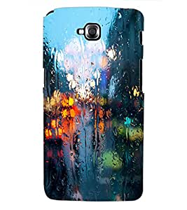 ColourCraft Water Drenched Mirror Design Back Case Cover for LG G PRO LITE
