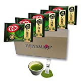 Japanese Kit Kat Matcha Taste Rich Green Tea Strong Flavor 5 Pack and Matcha Drink set(Total mini 55 pack)