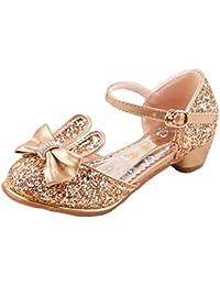 AMOMGard - Peep-Toe da ragazza' , oro (Gold), 32