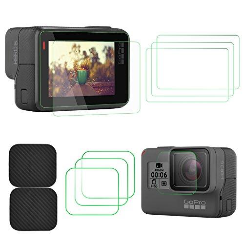DESCRIPCIÓN   Presenta la pantalla LCD TaichiAqua 2.5D borde redondo Scratch Glass templado de alta sensibilidad película de protección para GoPro Hero 5 Hero 6 cámara de acción    Funciones:   - Hecho de vidrio de alta calidad, el protector de d...