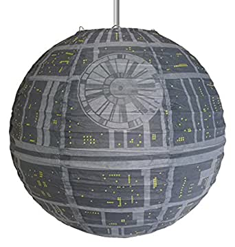 star wars death star paper light shade lighting. Black Bedroom Furniture Sets. Home Design Ideas