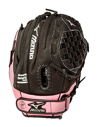Mizuno Prospect Serie gpp1105rg Jugend Baseball Handschuh (27,9cm), schwarz/rosa, 28 cm -