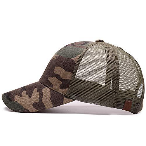 Ogquaton Tarnnetz Cap Baseballmütze Visor Outdoor Sonnenhut Camouflage Sommer Mütze Netzmütze für Männer Frauen Casual Mütze Hip Hop Baseball Caps
