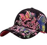 Tininna Damen Baseball-Cap, Sonnen- und UV-Schutz, für Aktivitäten im Freien, Fahrradfahren etc., schwarz