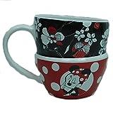Disney Kaffeetasse Tasse Mug Pott Kaffee Becher Disneyland Paris Minnie rockt die Punkte Stapeltasse 9 cm hoch