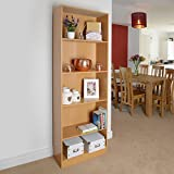 5 Shelf Wooden Bookcase Storage, Shelving Unit (Light Oak / Beech) by Christow