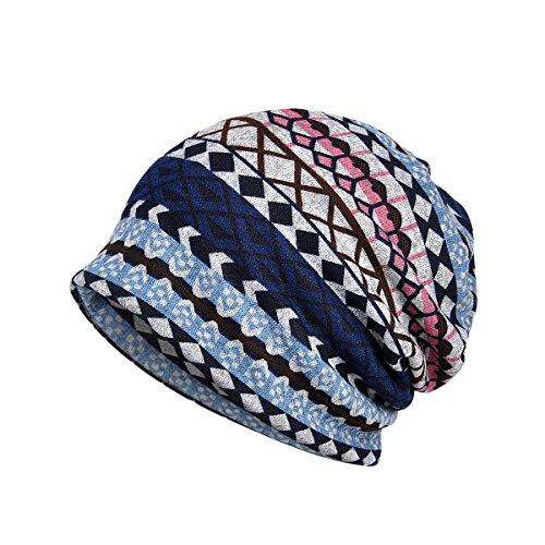 TININNA Multifunktionale Unisex Winter Warm Plaid Schal Nackenwärmer Headwear Gestrickte Ski Kappe Beanie Hut Mütze (Ski-handschuhe Plaid)