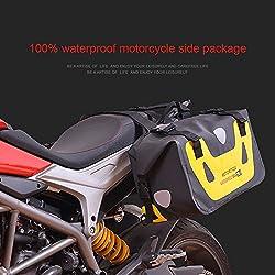 458810e1b4 Hukoer - Lote de 2 bolsas de viaje para moto, impermeables en color negro