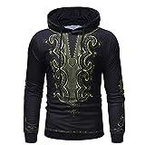 Pullover Herren,SANFASHION Männer 3D Printed Hooded Streetwear Langarm Kapuzen Sweatshirt Tops Bluse