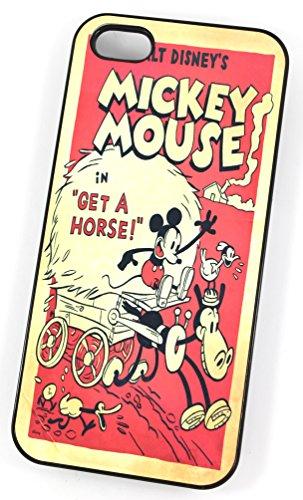 Walt Disney Mickey Mouse Comic Get a cheval Early édition originale de (Housse/Etui rigide en plastique pour iPhone 5/5S Noir