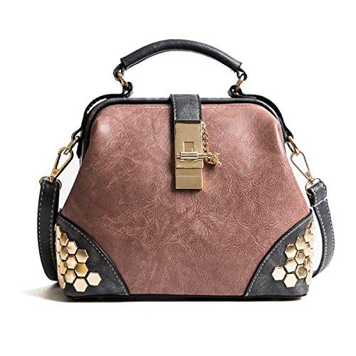 CHFUD Damen Schulter Tragbare Diagonale Persönlichkeit Big Bag Pink