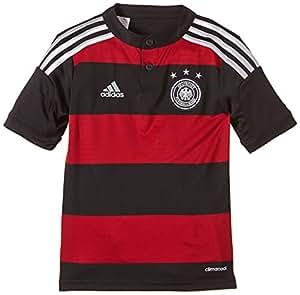adidas Jungen kurzärmliges Trikot DFB Away Jersey Youth, Black/Wht/Acmred, 128, G74524