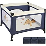 TecTake Parque para bebé cuna infantil de viaje portátil - disponible en diferentes colores - (Azul | No. 402205)