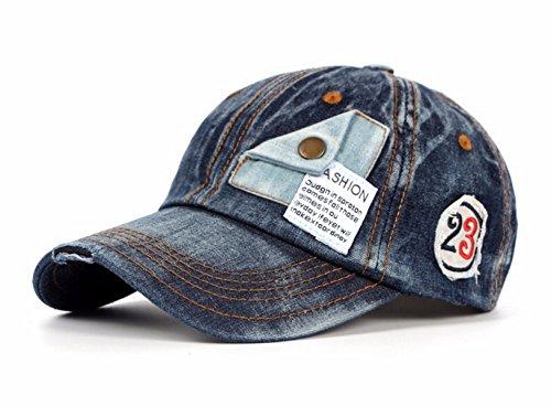 Navy Vintage Cap (Baseballcap Jeans Denim Distressed Snapback Vintage used Look Retro Oldschool Kappe Mütze Cap Schirmmütze Basecap verstellbar (Navy))