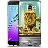 Head Case Designs Lion Féroce Faune Et Flore Dans Bocaux Étui Coque en Gel molle pour Samsung Galaxy A3 (2016)