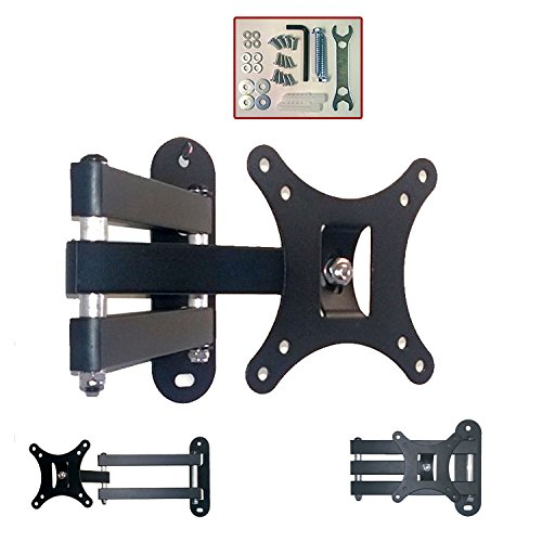 NEW TAHA® Tilt & Swivel TV Wall Mount Bracket, Fits for 10 13 15 17 19 20 21 22 23 24 25 26 27 29 30 Inch LED LCD Plasma Screen Monitor, Max Load Capacity 64lbs, Max VESA 100mm (100 X100mm)