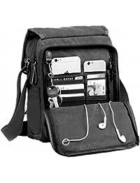 ca444cf255b3 Kenox Durable Vintage Multifunction Canvas Shoulder Bag Business Messenger  Bag Ipad Bag Tote Bag Satchel Bag