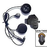 FreedConn Mikrofon Kopfhörer Soft Kabel Headset & Clip Zubehör für T-MAX Serie Motorradhelm...