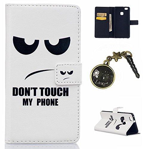 Preisvergleich Produktbild PU Silikon Schutzhülle Handyhülle Painted pc case cover hülle Handy-Fall-Haut Shell Abdeckungen für (Huawei P9 lite) +Staubstecker (10)